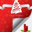Christmas greeting card design with candles — Stock vektor