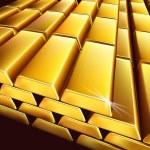 Постер, плакат: Stack of gold bullions Vector illustration