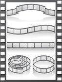 Set filmstripe icons — Stock Photo