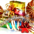 Gifts with decorations for New Year and Christmas — Stock Photo