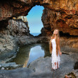 Cave girl — Stock Photo