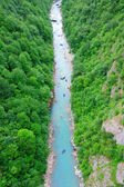 Rafting on the river Tara in Montenegro — Stock Photo