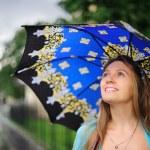 Girl with umbrella — Stock Photo #7252812