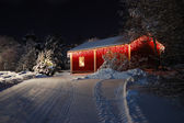 Beautiful Christmas house — Stock Photo