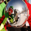 Snowboarders reflection — Stock Photo