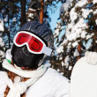 Stock Photo: Snowboarder girl