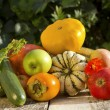 Autumn vegetable and fruits collection - Stock Photo