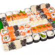Royalty-Free Stock Photo: Sushi set - Different types of maki sushi and rolls