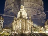 Frauenkirche by night — Stock Photo