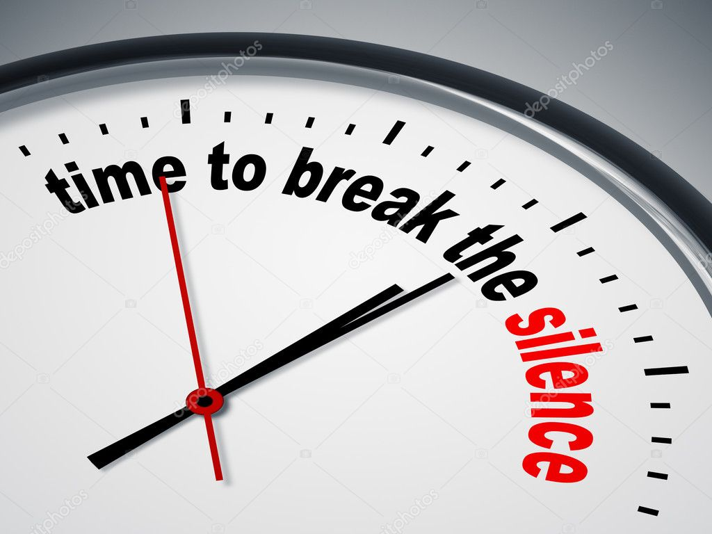 An image of a nice clock with time to break the silence — Stock Photo #6867131