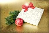 Grunge de presente de natal — Foto Stock