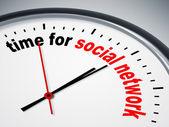 Czas na sieci społecznej — Zdjęcie stockowe