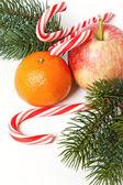 рождественский фруктовый — Стоковое фото