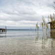 Jetty at the lake Starnberg — Stock Photo