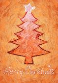 Orange christmas tree — Stock Photo