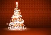 红色圣诞背景 — 图库照片