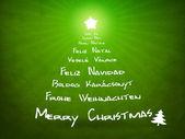 Green christmas card — Stock Photo