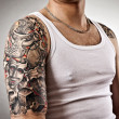 Man with tattoos — Stock Photo