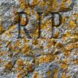 Stone texture with RIP — Stock Photo