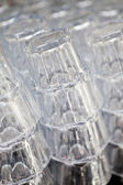 Stack of glass — Stock Photo