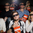 Scared movie spectators — Stock Photo
