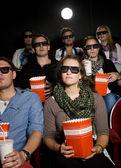 Widzów w kinie — Zdjęcie stockowe