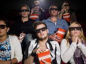 Scared movie spectators — Stock Photo