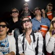 Happy at the cinema — Stockfoto