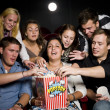 Eating popcorn — Stock Photo