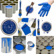 Blue Painting objects — Stock fotografie