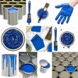 Blue Painting objects — Foto de Stock