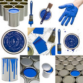 Blue Painting objects — Stock Photo