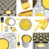 Yellow painting objects — Stock Photo