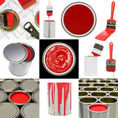 Red painting objects — Stock Photo