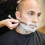 afeitado en la peluquería — Foto de Stock