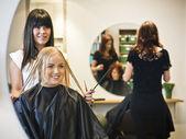 Hair salon situation — Stock Photo