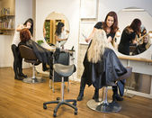 Hair salon situationen — Stockfoto