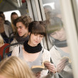 Reading at the bus — Stock Photo #7699552