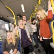 On the bus — Stock Photo