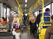 Em um ônibus — Foto Stock