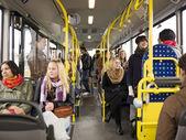 I en buss — Stockfoto