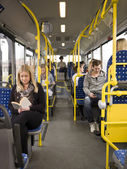 In a bus — Stock Photo