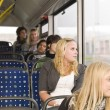 Women on the bus — Stock Photo