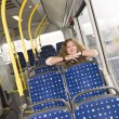 Stock Photo: Alone on bus