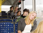 Sleeping on the bus — ストック写真