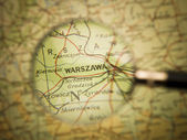 Map of Warzawa — Stock Photo
