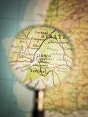 Lisboa map — Stock Photo