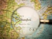 Shanghai map — Stock Photo