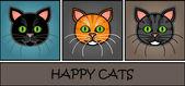 Karikatür kedi başlığı — Stok Vektör
