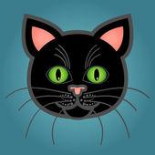Cartoon black cat — Stock Vector